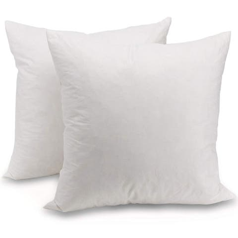 Cheer Collection Feather Down Decorative Square Pillow