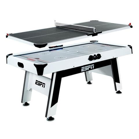ESPN 72 Inch Air Hockey and Table Tennis Table - Black