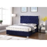 Best Master Furniture Upholsterd Platform Bed