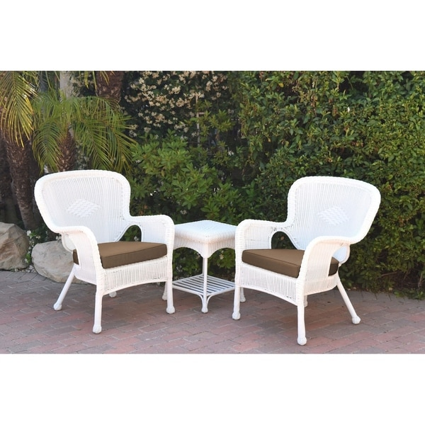 Shop Windsor White Wicker Chair And End Table Set With