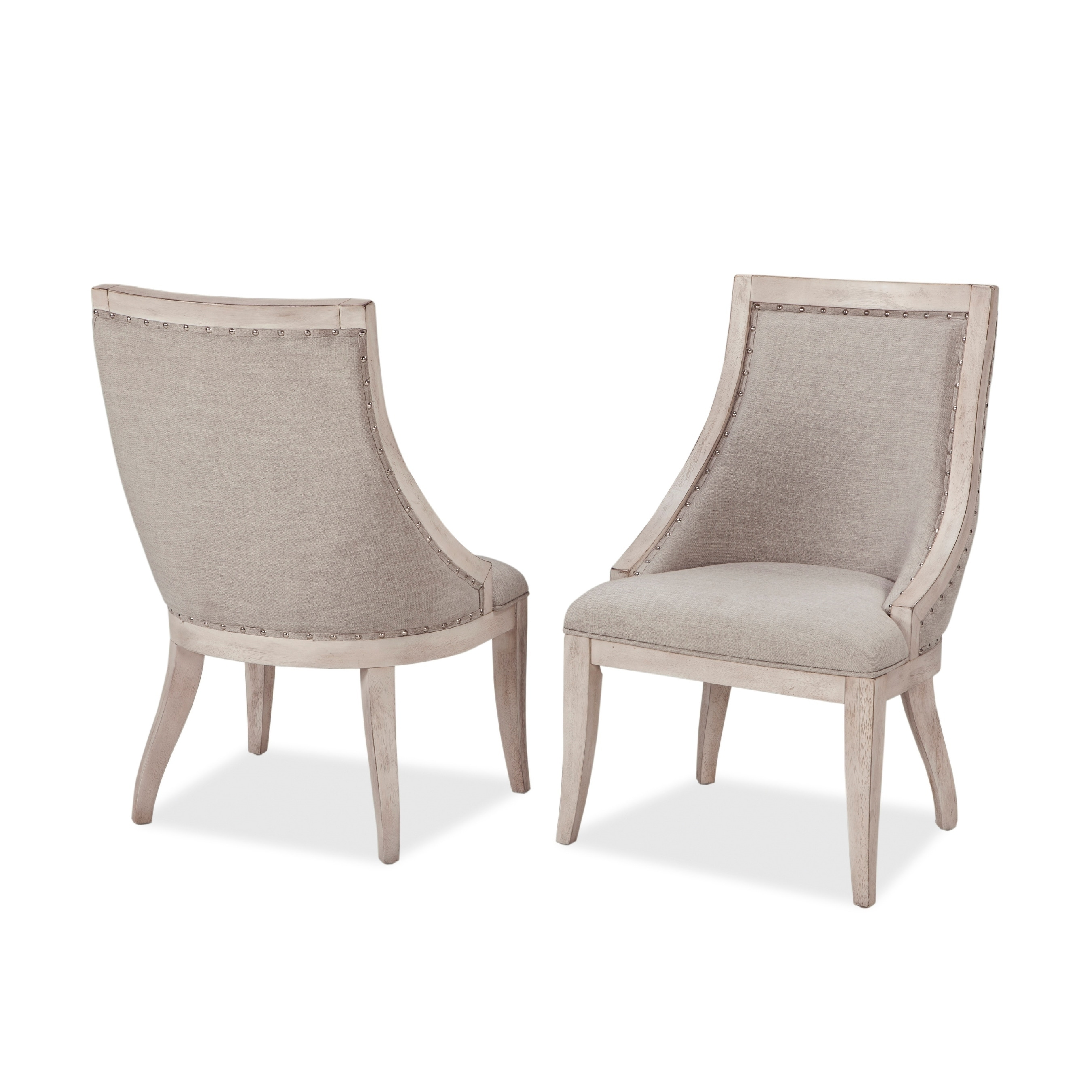 Graphite Upholstered Side Chairs By Panama Jack Set Of 2 Overstock 22898217