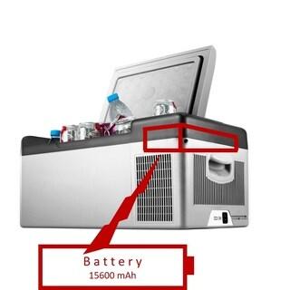 idee RECHARGEABLE DC/AC Compatible Ice-free Portable Quiet & Anti-vibration Compressor Cooling 16 qt (15L) Refrigerator/Freezer