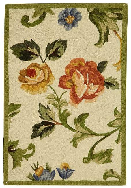 Safavieh Hand-hooked Garden of Eden Ivory Wool Runner (2'6 x 4')