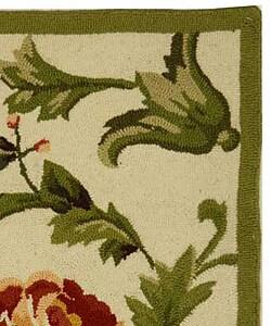 Safavieh Hand-hooked Garden of Eden Ivory Wool Runner (2'6 x 4') - Thumbnail 1