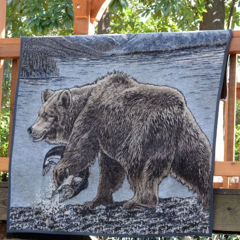 IBENA Sorrento Bear Throw Blanket