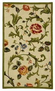 Safavieh Hand-hooked Garden of Eden Ivory Wool Rug - 2'9' x 4'9'
