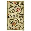 Safavieh Hand-hooked Garden of Eden Ivory Wool Rug (2'9 x 4'9)