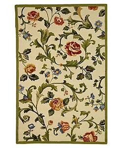Safavieh Hand-hooked Garden of Eden Ivory Wool Rug (3'9 x 5'9)