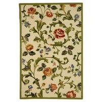 "Safavieh Hand-hooked Garden of Eden Ivory Wool Rug - 3'9"" x 5'9"""