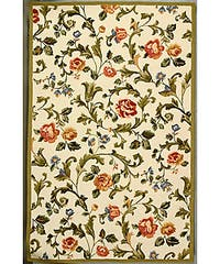 Safavieh Hand-hooked Garden of Eden Ivory Wool Rug - 5'3 x 8'3