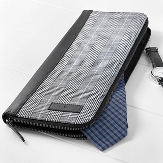Personalized Glen Plaid Tie Case