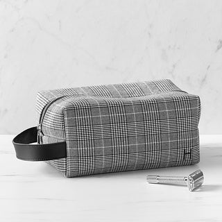 Personalized Glen Plaid Dopp Kit
