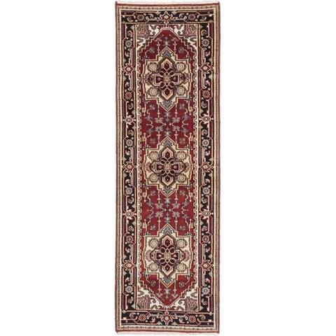 Hand-knotted Serapi Heritage II Red Wool Rug