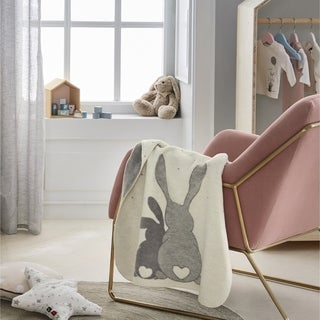 IBENA 'Best Bunny Friends' Baby Blanket