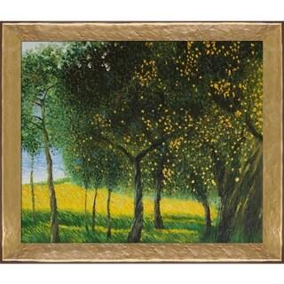Gustav Klimt 'Fruit Trees, 1901' (Luxury Line) Hand Painted Oil Reproduction