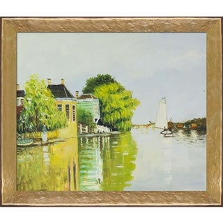 Claude Monet 'Houses on the Achterzaan' Hand Painted Oil Reproduction