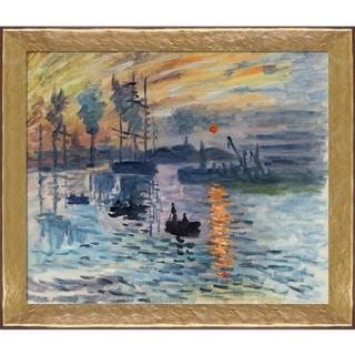 Claude Monet 'Impression, Sunrise' Hand Painted Oil Reproduction