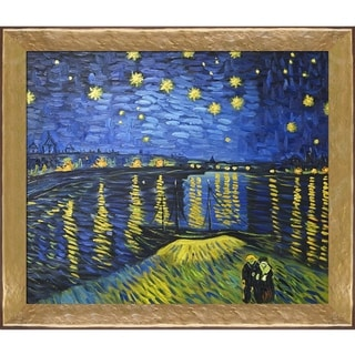 Vincent Van Gogh 'Starry Night Over the Rhone' (Luxury Line) Hand Painted Oil Reproduction