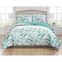 RT Designers Collection Seagull 3-Piece Reversible Quilt Set