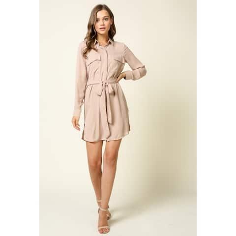 Olivia Pratt Self Tie Shirt Dress