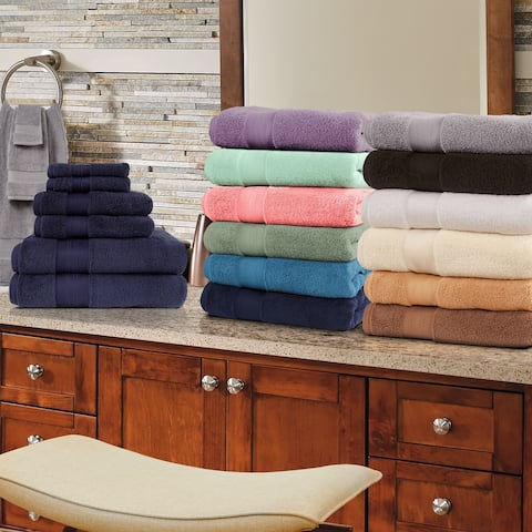 Miranda Haus 800 GSM 100-percent Turkish Cotton Solid 6-Piece Towel Set