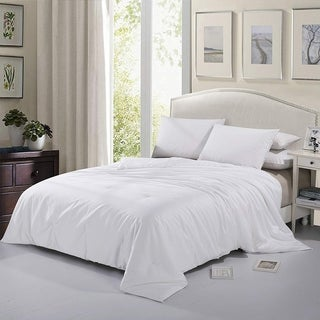 Cheer Collection Tussah Natural Silk Filled 300 TC Cotton Sateen Luxury Comforter