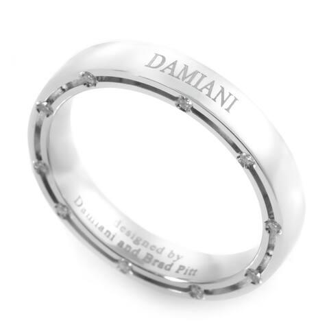 Damiani D.Side Brad Pitt White Gold 20-Diamond Band Ring Size- 7.25