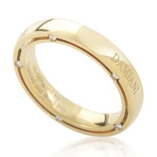 Damiani D.Side Brad Pitt Yellow Gold 10-Diamond Band Ring