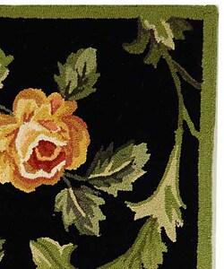 Safavieh Hand-hooked Garden of Eden Black Wool Rug (2'9 x 4'9) - Thumbnail 1