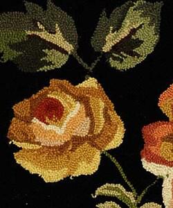 Safavieh Hand-hooked Garden of Eden Black Wool Rug (2'9 x 4'9) - Thumbnail 2