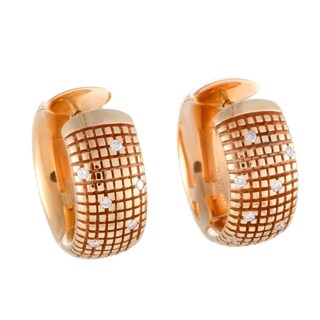 Damiani Metropolitan Rose Gold Diamond Hoop Earrings