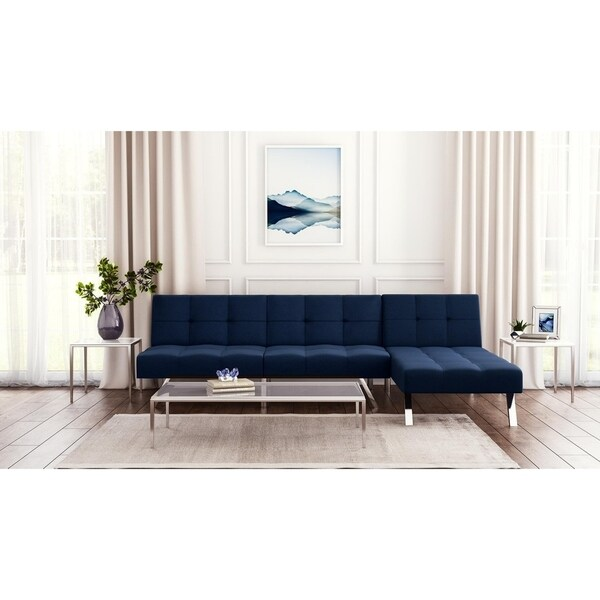 Dhp Novogratz Simon Sectional Sofa Bed And Convertible Futon Lounger