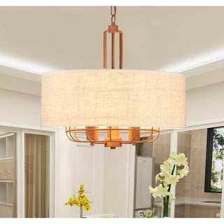 Maegan Brown 3-Light Pendant with Fabric Shade