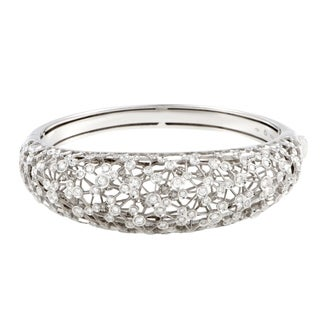 Damiani Via Lattea White Gold Diamond Cluster Bangle Bracelet