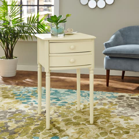 Davelon Tall Farmhouse Accent Table with Storage