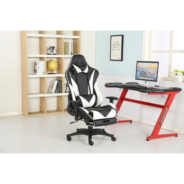 Brage Living PU Leather Lumbar Support Gaming Chair