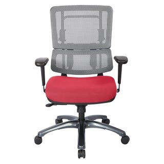 ProLine Vertical Grey Mesh Office Chair with Titanium Base