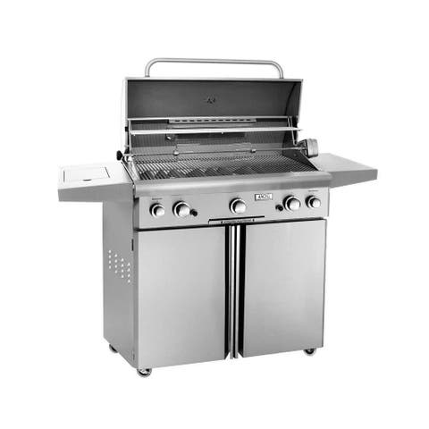 American Outdoor Grill 36PCL 36 In Portable Gas Grill With Rotisserie Backburner, and Rotisserie Kit.