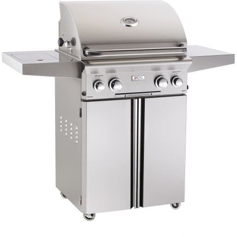 American Outdoor Grill 24PCL 24 In Portable Gas Grill With Rotisserie Backburner, and Rotisserie Kit.