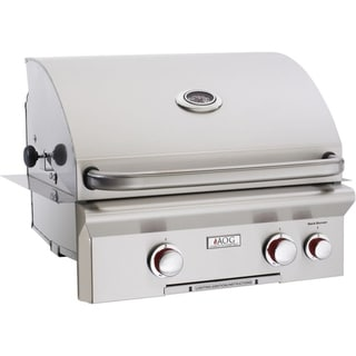 American Outdoor Grill 24NBT 24 Inch Built-in Gas Grill with Rotisserie Backburner, and Rotisserie Kit.