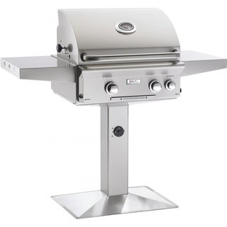American Outdoor Grill 24NPL Silvertone Stainless Steel 24-inch Rotisserie Backburner, Rotisserie Kit, and On Post Gas Grill Set