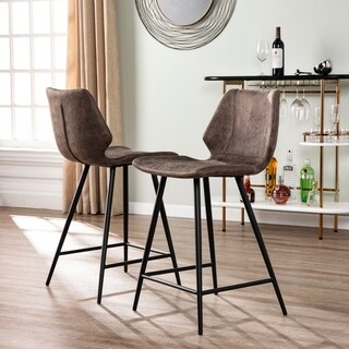 Harper Blvd Kesel Faux Leather Counter Stools (Set of 2)