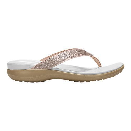 384306965a1d ... Rose Gold  Thumbnail Women  x27 s Crocs Capri V Sequin Thong Sandal ...