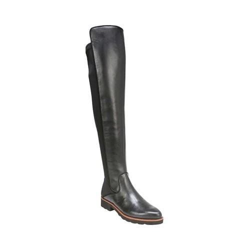669116aa328 Shop Women s Franco Sarto Benner Over the Knee Boot Black Smooth Leather Polyurethane  - Free Shipping Today - Overstock - 19426581