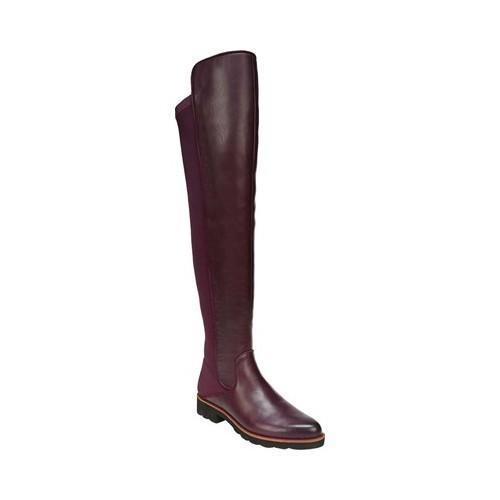 26efd20fae6 Shop Women s Franco Sarto Benner Over the Knee Boot Dark Burgundy Leather Polyurethane  - Free Shipping Today - Overstock - 19426582