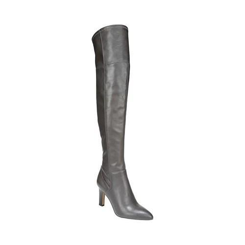 Women's Franco Sarto Freda Over The Knee Boot Dover Taupe Leather