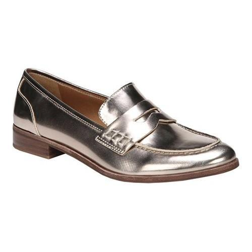 2d23b79cbbe Shop Women s Franco Sarto Jolette Penny Loafer Platino Polyurethane - Free  Shipping Today - Overstock - 19426690