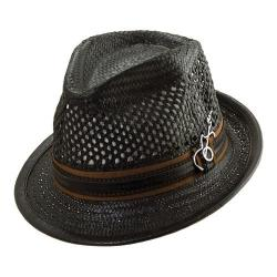 Men's Santana by Carlos Santana Vented Toyo Fedora SAN06 Black (2 options available)