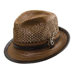 Men's Santana by Carlos Santana Vented Toyo Fedora SAN06 Brown