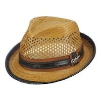 Men's Santana by Carlos Santana Vented Toyo Fedora SAN06 Honey